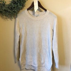 Madewell Waffle Knit Sweater in Cream